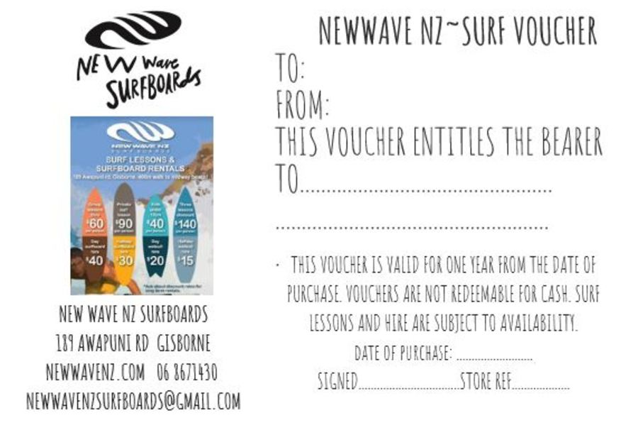 Surf Lesson/ Hire Voucher