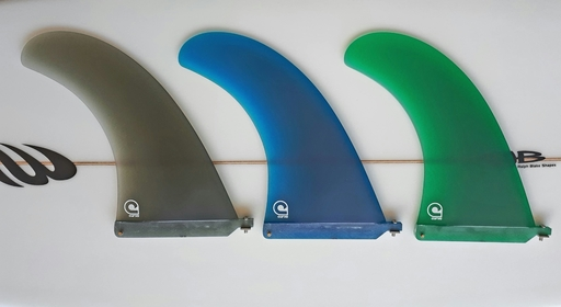 Curve single fibre glass fin -6.5